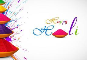 Tarjeta Holi con color en polvo