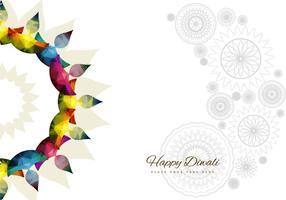 Rangoli con Diyas colorido brillante