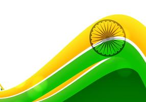 Tricolor Of Indian Flag On White Background vector