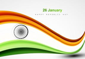 26. Januar Happy Republic Day mit indischen Flagge