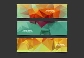 Header With Colorful Polygons vector
