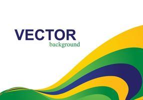 Onda da bandeira brasileira vetor