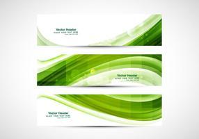 Business Card With Green Wave vector