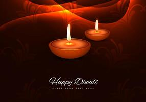 Lit Decorated Diya On Bright Background