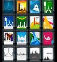 Collection Of Ramadan Kareem Card With Mosque