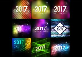 Collection Of Happy New Year Cards vector