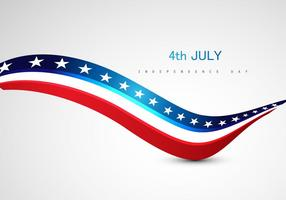 4th July Independence Day Text On Grey Background vector