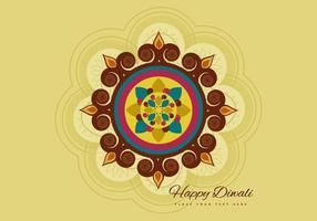 Lycklig Diwali hälsningskortdesign