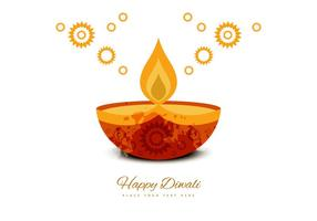 Deepawali Decorative Greeting Card vector