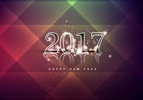 Glanzend Gelukkig Nieuwjaar 2017