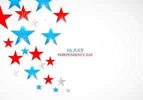 4 luglio carta Independence Day con stelle lucenti