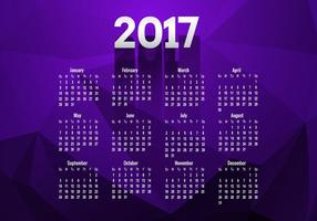 Calendar Of Year 2017 vector