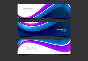 Abstract Header For Business Card vector