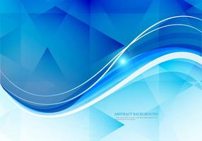 Wave On Polygon Background vector