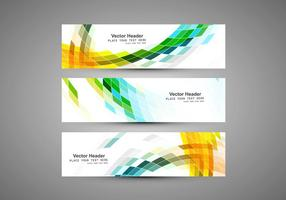 Headers For Business Card vector