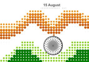 Dotted Tri Color Indian Flag vector