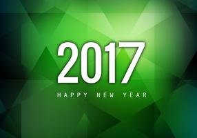 Happy New Year 2017 On Green Background