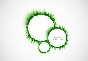 Frame With Green Grass Circle
