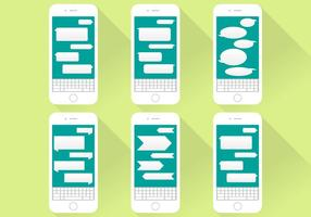 Imessage Conversation Icons Iphone Flat Illustration