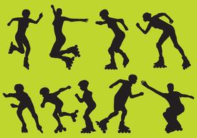 Roller Blade Vector Silhouettes