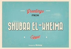 Retro Shubra Egypt Greeting Illustration