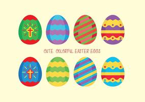 Huevos de Pascua coloridos del vector