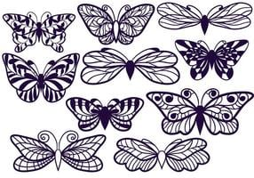 Free Cutout Butterflies vector