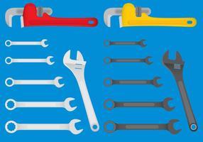 Vector de ferramentas mecânicas coloridas