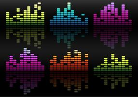 Vector Bright Equalizers Over Black Background