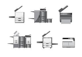 Vecteur de photocopieur moderne