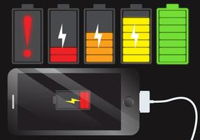 Vector de carregamento de bateria de telefone