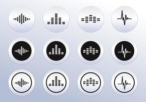 Vector Sound wave icons