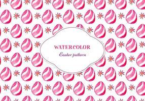 Patrón floral libre del vector con el huevo de Pascua