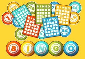 Bingo kaart vector set