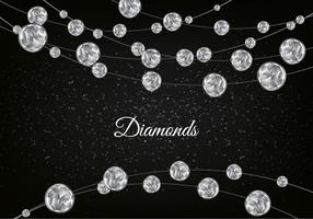 Vector Diamond Sparkling Background