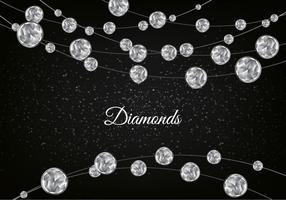 Vector Diamond Sparkling Background