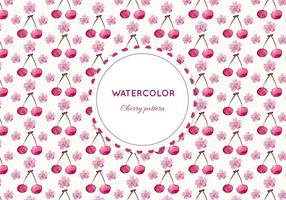 Vector Acquerello Cherry Pattern
