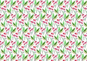 Vector Acquerello Cherry Blossom Pattern