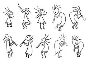 Kokopelli Fertility Deity Vector Collection