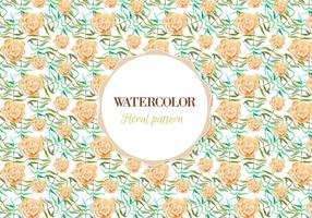 Teste padrão floral de aquarela de vetor grátis