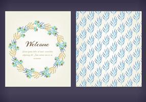 Cartões de vetores florais grátis para aquarela