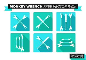 Monkey Skiftnyckel Gratis Vector Pack