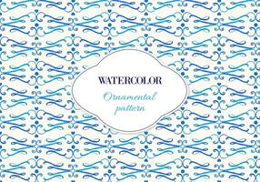 Free Vector Watercolor Ornamental Pattern