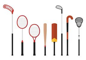 Floorball-Stick und andere Sport-Vektoren