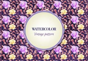 Free Watercolor Vector Floral Pattern