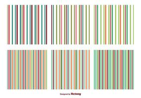 Colorful Stripe Vector Patterns