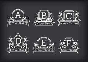 Monogrammen Vector
