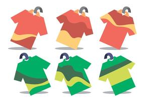Tshirt Price Tag Wobbler Vector Set