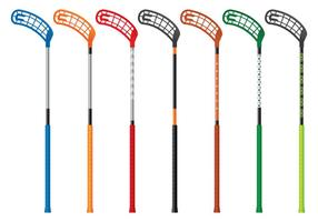 Collection Floorball Stick Vector