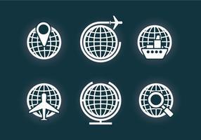 Globe Grid Vector